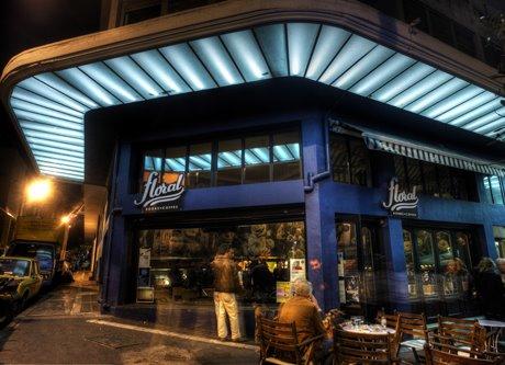 Un des cafés librairie d'Athènes : le café Floral