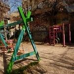 Une aire de jeux originale à Athènes