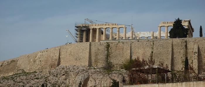 Panorama sur l'Acropole d'Athènes