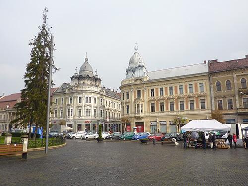 Centre ville de Cluj en Roumanie