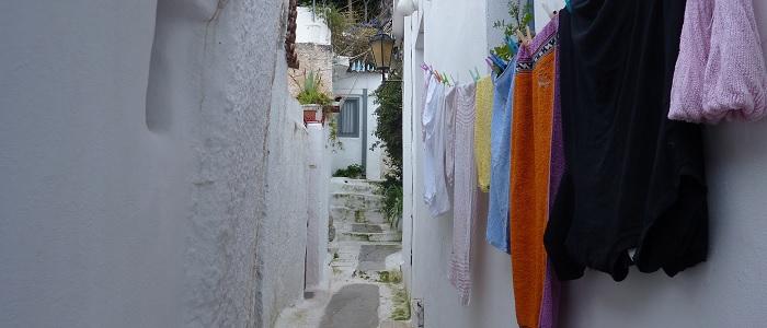 Quartier secret d'Anafiotika à Athènes
