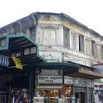 La façade du marché central d'Athènes