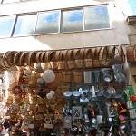 Un magasin de corbeilles à Athènes
