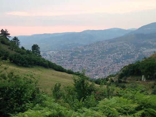 la montagne autour de Sarajevo