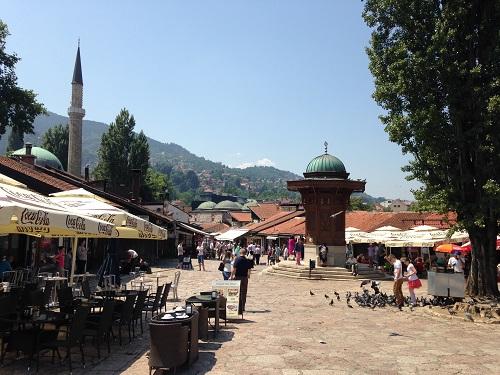 Sebilj, la place de la fontaine à Sarajevo